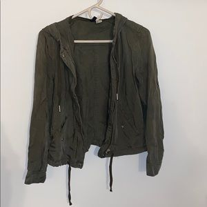H&M Green Utility Jacket